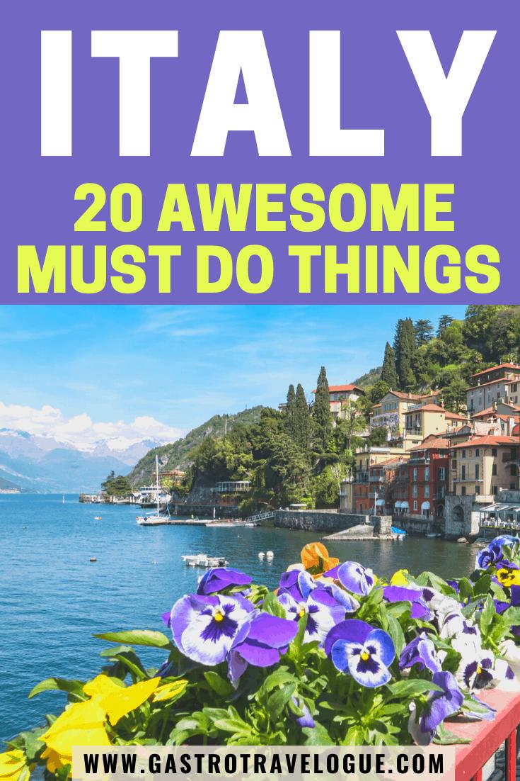 20 Things to do in Italy  italy rome collosuem trevi venice ...